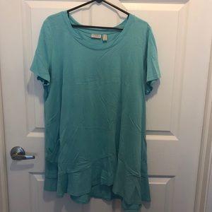 Turquoise Long LOGO Tunic